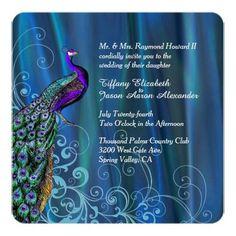 #weddinginvitation #weddinginvitations (Chic Blue Satin and Peacock Wedding Invitation) #Chic #Elegant #GemColors #Glam #Peacock #Romantic #SatinLook #TurquoiseBluePurpleTeal #Wedding is available on Custom Unique Wedding Invitations  store  http://ift.tt/2aNHWmP