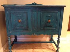 Painted buffet with new knobs