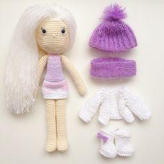 """""""А вот так куколка выглядит без верхней одежды. Кстати☝️волосы можно расчесывать частым гребнем, заплетать и даже подстригать.…"""""""