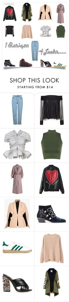 """""""Creating Style  Mix&Match"""" by crystelpi on Polyvore featuring mode, Topshop, Alice + Olivia, Maticevski, WearAll, Zimmermann, Balmain, Chloé, adidas Originals et MANGO"""