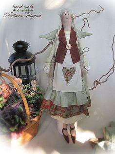 Тильда ангел, Фея тильда, Фея, Осенний ангел, Садовый ангел, Скандинавская фея, Фея осени,  ангел, текстильная кукла тильда, хозяюшка, ангел домашнего уюта, подарок девушке, Белокурые волосы, Тильды,