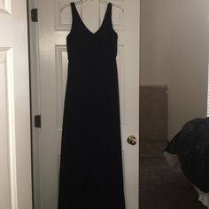 """FINAL SALE Silk J Crew Formal Dress STUNNING floor length dress. 100% silk with polyester lining. Labeled size 6 but did fit me when I was a smaller 8 as well. 60"""" long, 17"""" across the bust, but has more space than that because I wore it as a 36D. Feel free to ask any other questions! J. Crew Dresses Maxi"""