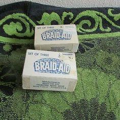 2 Boxes 2 Different Vintage Braid Aid Rug Braiding Tools Rag Rug Diy, Braid Tool, Rug Hooking, Braids, Weaving, Boxes, Free Shipping, Rugs