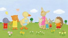 Heidi D'Hamers Illustration - heidi d'hamers, heidi dhamers, paint, painted, acrylic, commercial, novelty, picture book, picturebook, board, animals, rabbits, bunny, bunnies, moles, ducks, hedgehogs