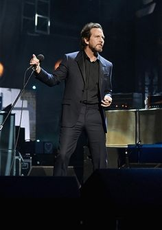 Inductee Eddie Vedder of Pearl Jam performs onstage at the 32nd Annual Rock & Roll Hall Of Fame Induction Ceremony at Barclays Center on April 7, 2017 in New York City. The event will broadcast on HBO Saturday, April 29, 2017 at 8:00 pm ET/PT