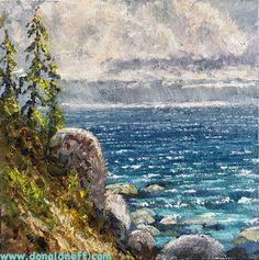 $200 Tahoe Squall, 6x6, oil on panel
