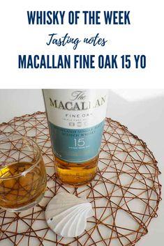 Tasting notes for the Macallan Fine Oak 15 yo single malt whisky