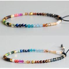 976d9950866ac1 12 Constellation Lucky Bracelet 3mm Beads Adjustable Bohemia Bracelets |  eBay Beaded Bracelets, Beaded Jewelry
