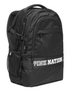 Pink Nation Backpack, Vs Pink Backpack, Black Backpack, Travel Backpack, Mochila Victoria Secret, Victoria Secret Backpack, Pink Bookbag, Backpacks For Sale, School Backpacks