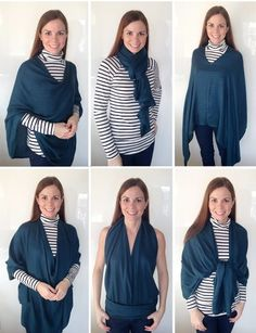 Absurdly Versatile Scarf - Learn how to wear a scarf in six different ways,