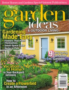 Magazine Coverage - Secret Garden Landscaping - Adorable country-style shed with garden