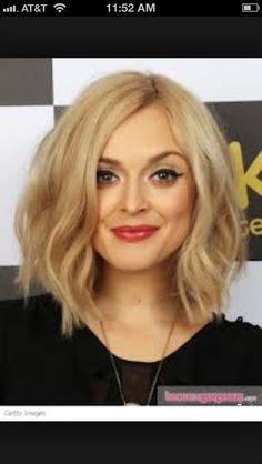 Cute long bob with tousled curls