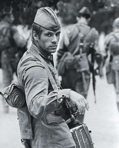 Photogenic Soviet soldier, by Vladimir Vyatkin, Moscow, 1971