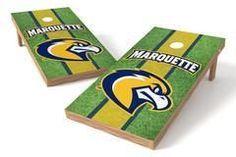 Marquette Golden Eagles Single Cornhole Board - Field