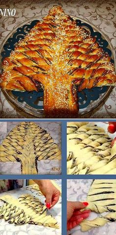 Braided Nutella Christmas Tree Bread Recipe ~ The video is fabulous with great instructions