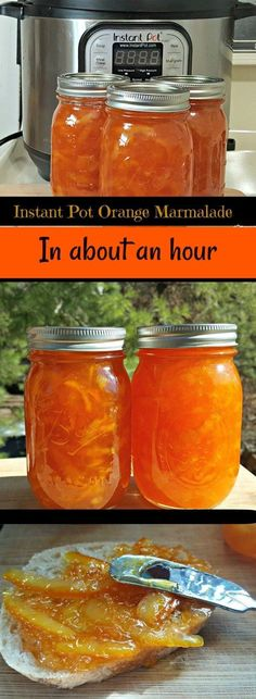 Make this Instant Pot Orange Marmalade in about an hour. It's so easy and delicious. #InstantPot #InstantPotMarmalade #Marmalade