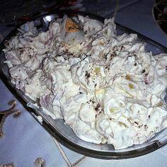 Virslis krumplisaláta, káprázatosan finom és villámgyorsan el is készül! - Egyszerű Gyors Receptek Cold Dishes, Salad Dressing, Salad Recipes, Cabbage, Recipies, Food And Drink, Cooking Recipes, Sweets, Meat