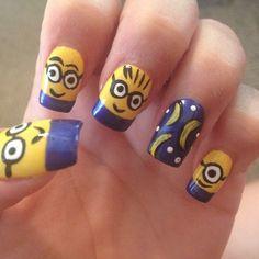 Minion nails with bananas