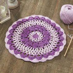 Shades of Dahlia Mandala   - Free Crochet Pattern Download