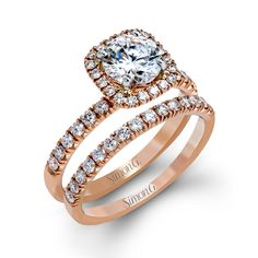 Brides.com: . 39. Consider a rose gold band. This retro, romantic style is trending again and lends a unique look to a ring. The only downside is that its reflection can impart a hint of color when you look at the diamond, making it look a tad less bright-white.