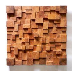 End-cut reclaimed wood wall design / Barnwood Naturals, LLC www.barnwoodnaturals.com