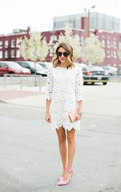 18 Cute Street Style White Dress Outfit Looks waysify