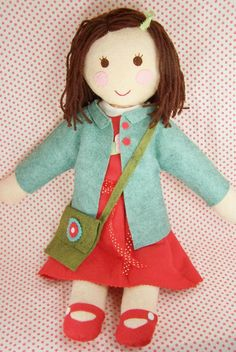 So cute - how fun to make one for each of the girls, personalized with their hair, eye color and maybe an embroidered initial on the outfit!