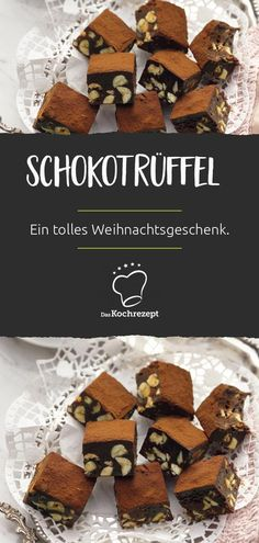 Schokotrüffel (Tartufo al cioccolato) Make chocolate truffle (Tartufo al cioccolato) yourself. The delicious sweets can also give away great. Truffle pralines (also: butter truffles or chocolate Fall Desserts, Christmas Desserts, Truffle Butter, Pumpkin Spice Cupcakes, Jamie Oliver, Chocolate Truffles, Cheese Recipes, Fall Recipes, Cookie Recipes