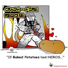 Anybody up for some hot potato? (Cartoons created by Gunny Wolf)  For more laughs, visit the SemperToon Facebook page: https://www.facebook.com/pages/SemperToons/241614423833?fref=ts Or follow @SemperToons on Twitter.