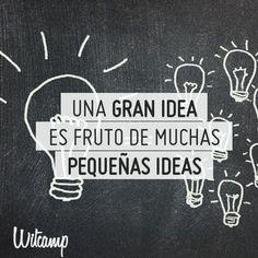 ¿Qué hay detrás de una gran idea?   Solemos pensar que las grandes ideas llegan solas... ¿Pero no es esto como empezar la casa por el tejado?