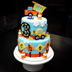 cake…Sweet Mary's, New Haven, CT - 2 Year Old Birthday Cake, Truck Birthday Cakes, Truck Cakes, Birthday Fun, Construction Birthday Parties, Construction Party, Digger Cake, Thomas Birthday, Cakes For Boys
