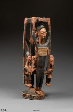 (779×1200)Figurengruppe Yoruba & Nigeria & Westafrika 1901/1915 StatuetteSkulptur geschnitzt, bemalt, Holz Höhe: 63 cm Köln, Rautenstrauch-Joest-Museum