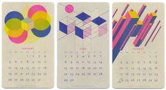 JP King designed this geometric, mid-century-inspired calendar.
