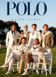 "Example of an ad for RL polo. RL tends to show that upscale ""preppy"" look a their key signiture. It appeals to young men usually of high rank"