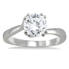 Marquee Jewels 14k Gold 1ct TDW Diamond Solitaire Engagement Ring