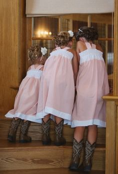 Little cowgirls flower girls Toni Kami ❀Flower❀Girls❀ wedding flower crowns