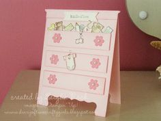 I want to make this card for my sister who is expecting in May.  This pin has the link to the blog with some directions.