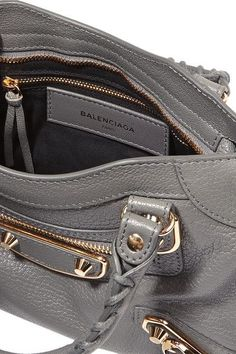 Balenciaga - Metallic Edge City Mini Textured-leather Tote - Anthracite - one size