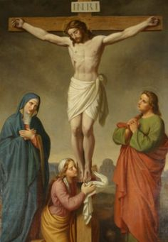 He Loves us this much Life Of Christ, The Cross Of Christ, Catholic Art, Religious Art, Image Jesus, Pictures Of Jesus Christ, Crucifixion Of Jesus, Jesus Painting, Saint Esprit