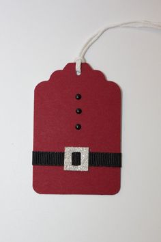 Set of 10 Santa Suit Gift Tag Christmas Tag Holiday by CLHomemade, $5.00