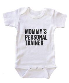 """""Mommy Personal Trainer"""" Baby Onesie Bodysuit"