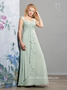 Chiffon A-Line Gown with Ruffle Drape