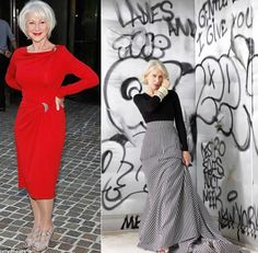 Helen Mirren style icon. She is the definition of beauty, style and grace at any age. She is simply perfect in my eyes.