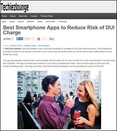 Avoid a DUI - use BACtrack Mobile.