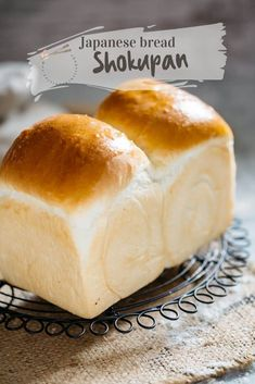 Shokupan is the soft and fluffy Japanese milk bread made by the Yudane method! Learn how to make the bread with step by step photo instruction. Milk Bread Recipe, Bread Recipes, Baking Recipes, Banh Mi Bread Recipe, Asian Bread Recipe, Shokupan Recipe, Japanese Milk Bread, Japanese Food, Bread Bun