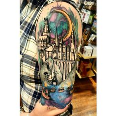 """Sandra Moreno (@savage_sandra) on Instagram: """"Had a customer come in to Fuego today with one of the coolest Harry Potter tattoos I have ever…"""""""