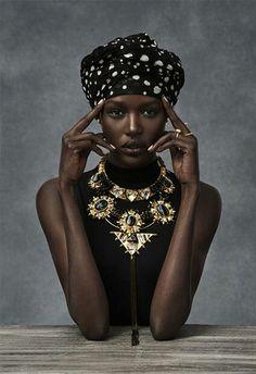 Wow......African beauty Ajak Deng great models