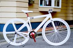 LEADER BIKE 721TR Girl's ALL WHITE CUSTOM | BROTURES ONLINE | ピストバイク専門店BROTURESオンラインストア