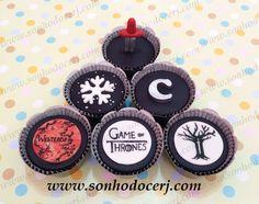Cupcakes Game of Thrones!  curta nossa página no Facebook: www.facebook.com/sonhodocerj