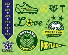 Portland Timbers SVG, Logo Clipart, Portland Monogram, dxf, svg,pdf, jpg,eps Files, Cutting Files, Timbers Clipart, Soccer Clipart 09-MLS